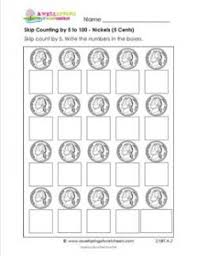 skip counting by 5 to 100 with nickels second grade skip counting