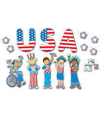 kids usa usa patriotic kids bulletin board set from carson dellosa