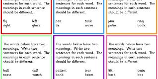 early work activity homonyms classroom secrets