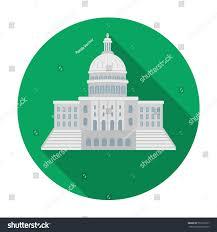 united states capitol icon flat style stock illustration 555372337