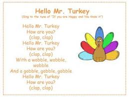 hello mr turkey thanksgiving and turkey song by mrs crosby tpt