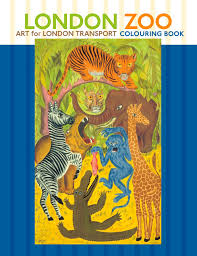 london zoo colouring book