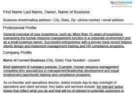 resume for business development sample business owner resumes lovetoknow