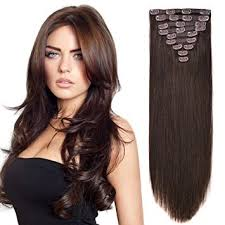 hair extensions az fully 100 original real human 10 pcs hair extensions for women