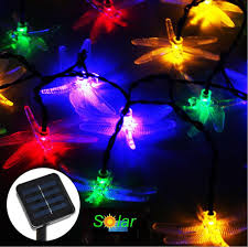best 20leds dragonfly solar led tree lights solar