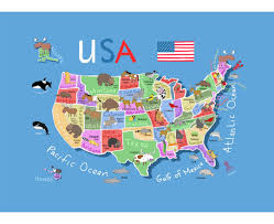map of america with cities maps of the usa the united states of america political