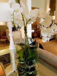 corsole table decor mirrored white orchid glass vase planter