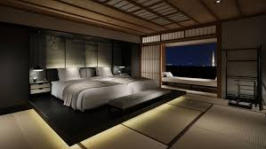 Traditional Japanese Bedroom - bedroom canopy japanese bedroom idea with wooden bed canopy and
