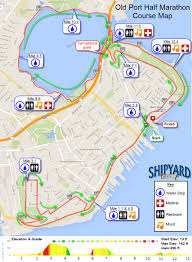 Portland Brewery Map by Half Marathon Course Map U2013 Shipyard Old Port Half Marathon U0026 5k