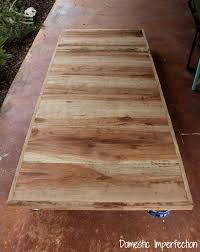 pecan farmhouse dining table domestic imperfection