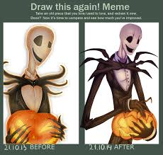 Trick Or Treat Meme - draw this again meme trick or treat by green nightingale on
