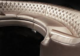 Half Round Sofas Luxury Grand Half Circle Button Tufted Upholstered Sofa With