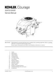 kohler courage 20 service manual 20 690 01 en carburetor