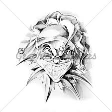 evil clown skull tattoo designs real photo pictures images and