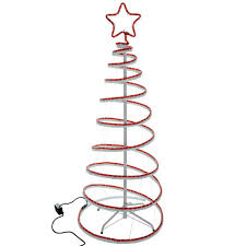 Christmas Rope Light Tree by 5ft 150 Cm Flashing 3d Spiral Christmas Tree Rope Light Silhouette