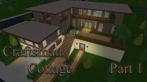 lets build bloxburg craftsman cottage part 1 youtube