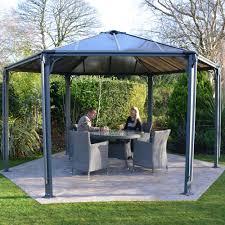 garden garden treasure patio furniture steel pergola with