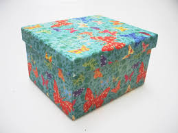 recycled colourful cardboard crafts storage box kids birthday gift
