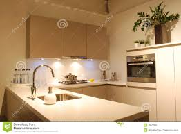 modern design kitchen brown white stock photography image 19072992