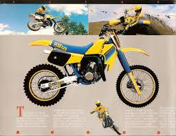 1985 suzuki rm125 rm250 sales brochure gallery