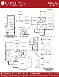 castle rock floor plans sausalito gold home plan by castlerock communities in westwood