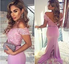 2016 light purple off shoulder bridesmaid dresses for wedding lace