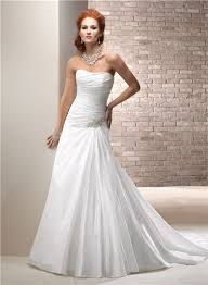 wedding corset simple a line strapless taffeta wedding dress with corset back