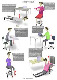 exercises to do at your desk office workouts poster