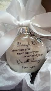 miscarriage gift in memory ornament though