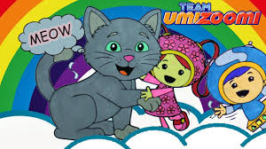 kitten is meowing team umizoomi coloring book cat and milli geo