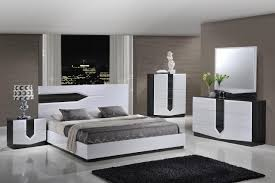 Contemporary White Bedroom Furniture Global Furniture Hudson 5 Piece Bedroom Set In Zebra Grey And