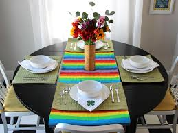 Set The Table by How To Make A Painted Rainbow Table Runner For St Patrick U0027s Day