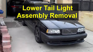 how to remove the lower tail light assembly removal volvo 850 v70