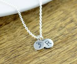 footprint necklace personalized footprint necklace new gift sterling silver charm necklace