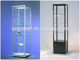locking wine display cabinet modern style wine glass display cabinet lockable glass display