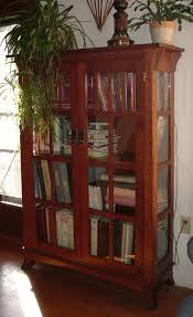 Mission Bookcase Plans Handmade Mission Bookshelf With Glass Doors By Ivy Lane Fine