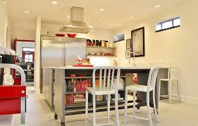 second kitchen islands a second kitchen island serves as a desk and bookshelf and