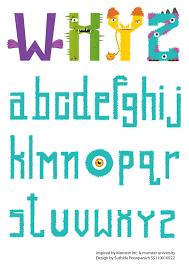 fun colorful font inspired pixar u0027s u0027monsters university