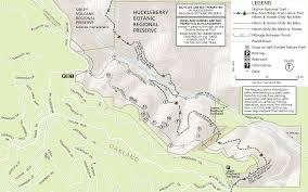 Skyline Drive Map Huckleberry Botanic Regional Preserve