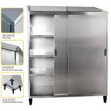 armoire inox cuisine professionnelle armoire inox professionnelle l1200 sofinor mag12 francechr com