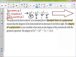 algebra 1 lesson 8 1 adding u0026 subtracting polynomials youtube