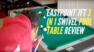 triumph sports 3 in 1 rotating game table eastpoint 7ft 3 in 1 swivel pool table review youtube
