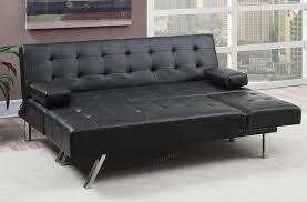 Black Leather Sleeper Sofa Furniture Mid Century Modern Black Leather Tufted Sectional