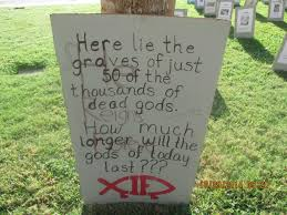 graveyard of the gods u201d in texas clearly rubbed someone the wrong