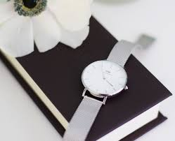 daniel wellington classic petite watch stirling and white and a