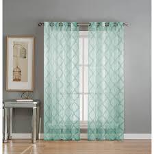 Lattice Design Curtains Window Elements Sheer Lattice Cotton Blend Burnout Sheer 84 In L
