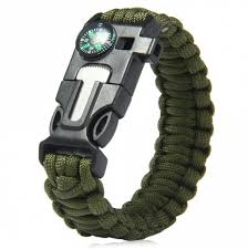 paracord bracelet buckle with whistle images Army green 5 in 1 outdoor survival gear escape paracord bracelet jpg
