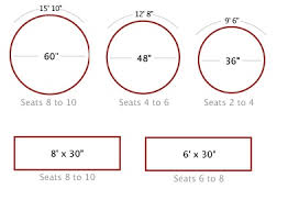 8 person round table size person round table dimensions person round table dimensions http