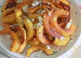 roasted delicata squash with rosemary feta kitchen treaty
