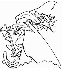 coloriage de dragon à imprimer